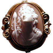 Rare cameo of Bacchus by French goldsmith Pierret