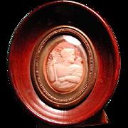 Framed museum quality Zeus with eagle cameo