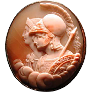 Fine cameo of Athena and Minerva