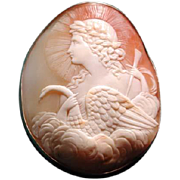 Rare cameo of Apollo the Swan God