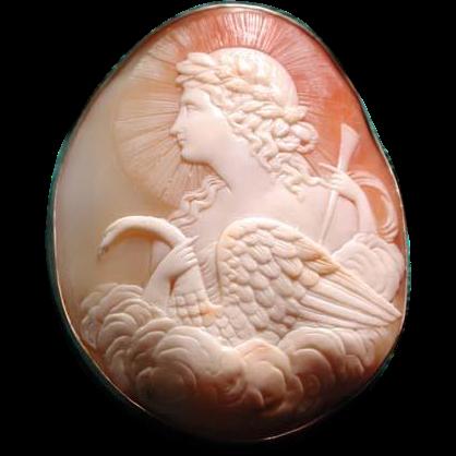 Rare cameo of Apollo the Swan God
