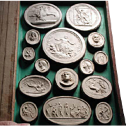 Grand Tour book of original plaster castes of  29 cameos