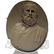 Museum quality lava cameo of Garibaldi