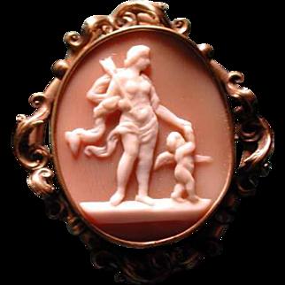 Cameo of Apollo with cherub