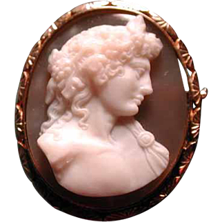 Fine French cameo of Antinous Vertinous