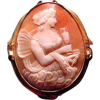 Huge cameo of Psyche with urn