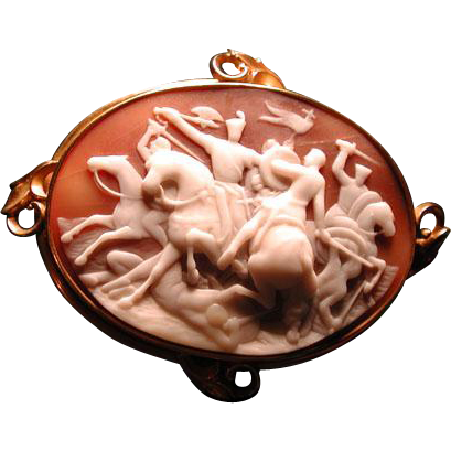 Large cameo of Sir Richard the Lionhearted in battle