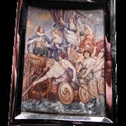 Fabulous hand painted miniature scene from Rubens