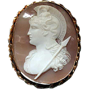 Cameo of Athena with mermaid on her head