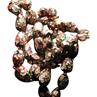 Long strand of glass carnival type beads