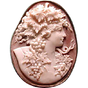 Lovely cameo of Bacchus with leaves