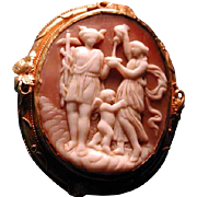 Unusual cameo of Mercury with cherub