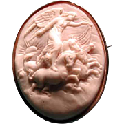 Lovely cameo of Eos the Goddess of the Dawn with horses