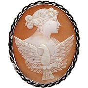 Wonderful cameo of Flora with eagle