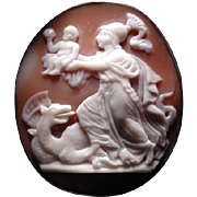 Rare cameo of Athena and Cerberus