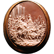 Rarest cameo of Hannibel with army and elephant