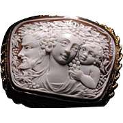 LOvely unusual shape cameo of Bacchus family