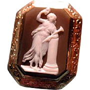 Fine stone cameo of Thalia with mask