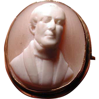 Cameo of Victorian man