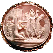 Wonderful cameo of an Egyptian scene wit the 3 graces