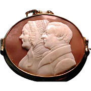 Huge cameo of Victorian man and women - Red Tag Sale Item
