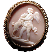 Cameo of Cherub with his beloved dog