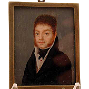 Hand painted American miniature dated 1818