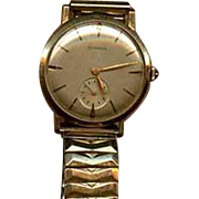 Mans gold Benrus wrist watch