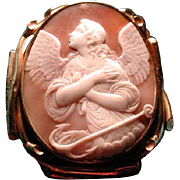 Large Victorian cameo of Hope with anchor