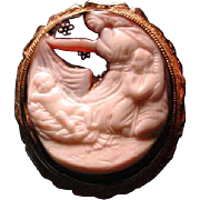 Manger scene cameo with enamlled sky