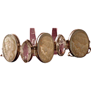 Large mother of pearl cameo bracelet