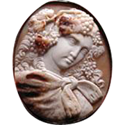 Large Russian beautiful Ariadine cameo