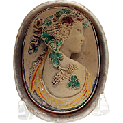 Rare Grand Tour painted lava cameo