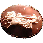 Museum quality carved cameo of Helious in the night sky