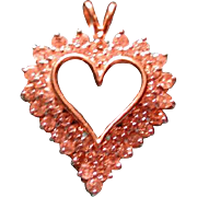 Lots of diamonds heart pendant for Valentines day