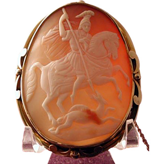 St. George and the dragon cameo