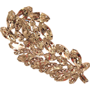 Clear Rhinestone Branch and Leaves Pin