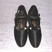 Edwardian Era Ladies Silk Shoes