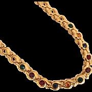Multicolored Rhinestone Necklace by Napier