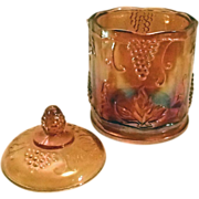 Gold Carnival Glass Candy Jar or Canister