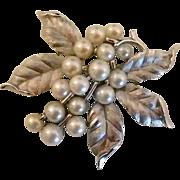 Mid-century Trifari Faux Pearl Brooch