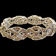1940s Art Deco Rhinestone Bracelet