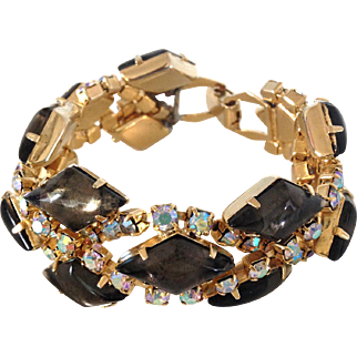 Black Diamond Rhinestone Bracelet
