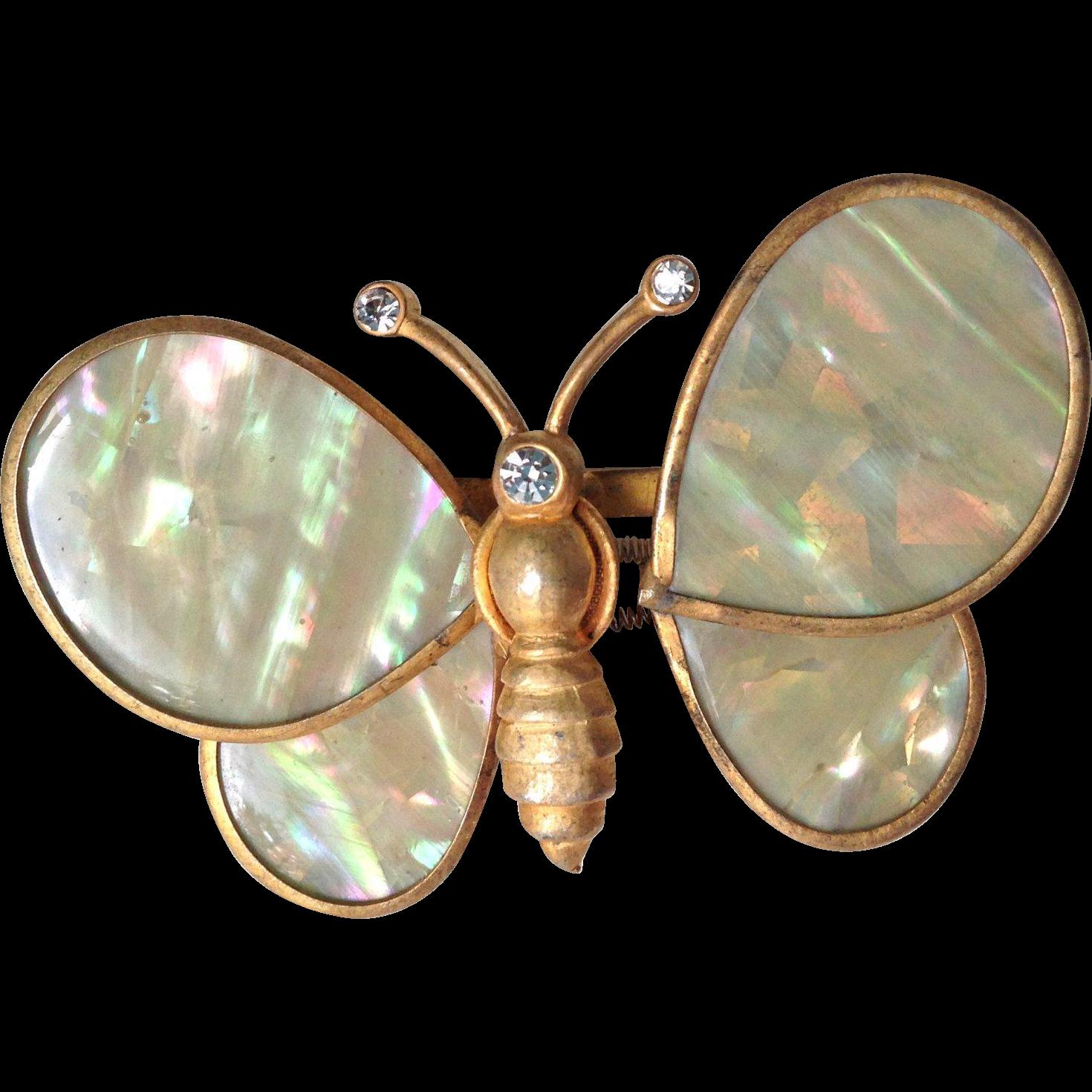 Trembler Butterfly Brooch