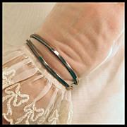 Modernist Sterling Silver Designer Cuff Bracelet