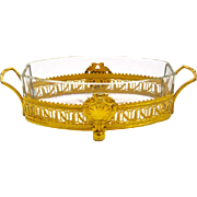 Antique Empire Crystal and Dore Bronze Jardiniere
