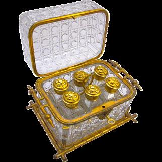Antique Stunning BACCARAT Perfume Casket Box