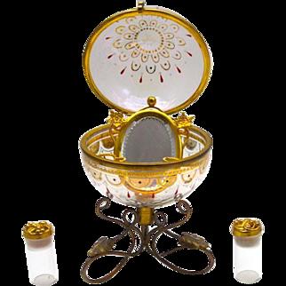 Unusual Antique French Perfume Casket Box