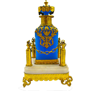 Very Large Palais Royal Blue Opaline Glass Perfume and Stand.