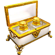 Antique Palais Royal Opaline Perfume Casket Box